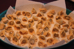 Tortellini; we had two full trays of my holiday favorite!