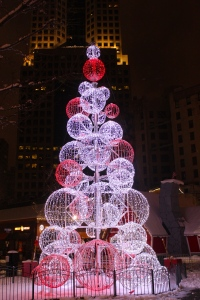 A sparkling merry little Christmas Tree in downtown Pittsburgh