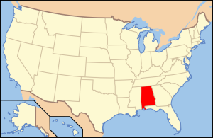 Alabama...it really is a red state