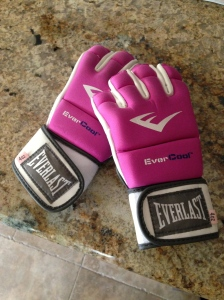Pink gloves...only color I could find.