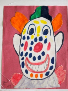 Happy Clown Art by my son, second grade.
