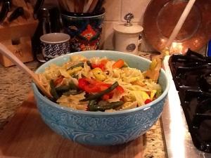 Pasta with veggies. Buonissimo!