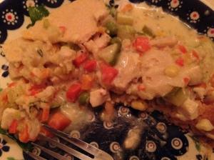 Delicious, despite the heavy crust.
