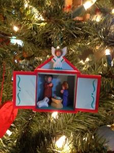 I love this Hallmark Nativity ornament!