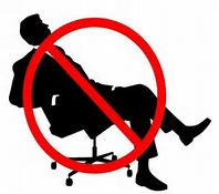 No Sitting Allowed for health purposes!