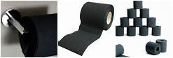 Black Toilet paper is popular too.