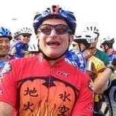Avid cyclist, Robin Williams