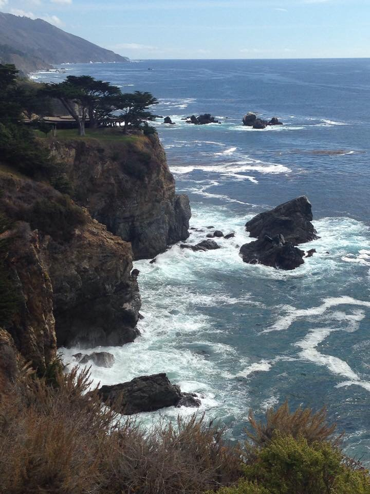 Part of our cycling route along California's Central Coast