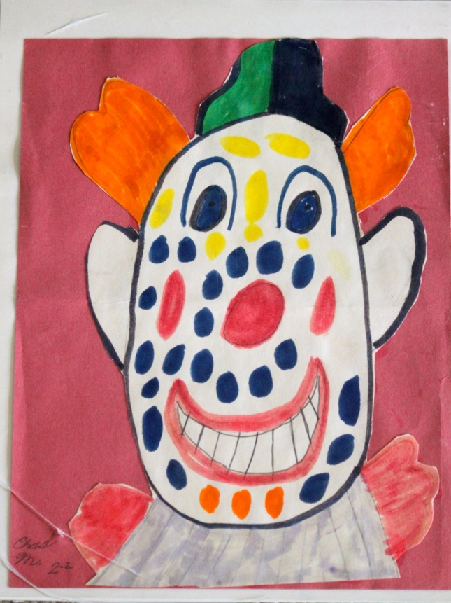 Happy Clown by my son when he was seven.