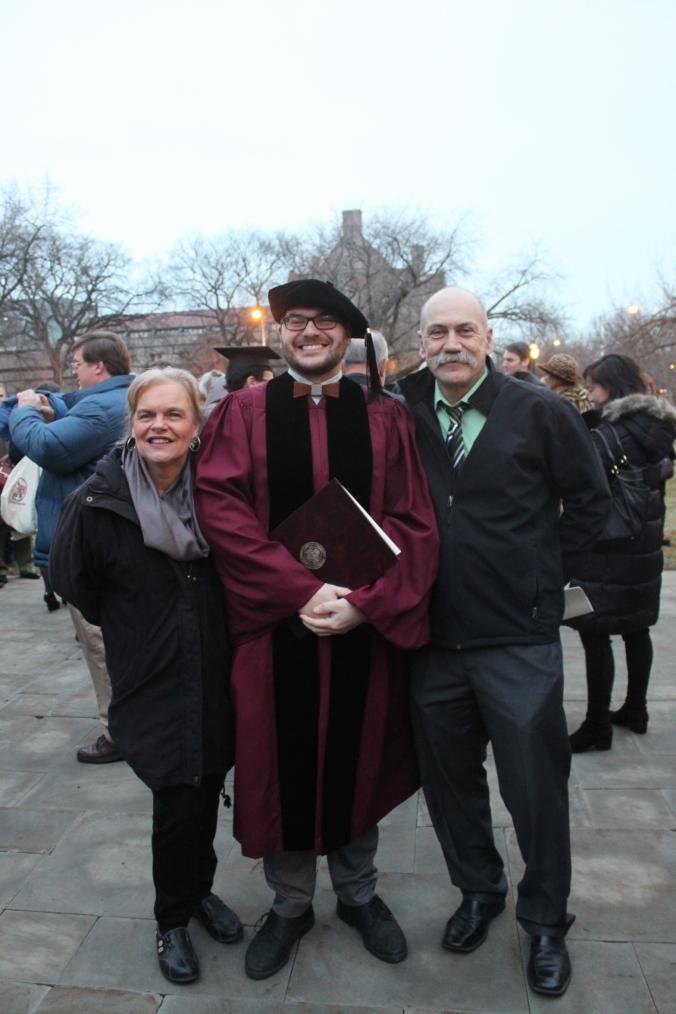 Dr. D. and his proud parents