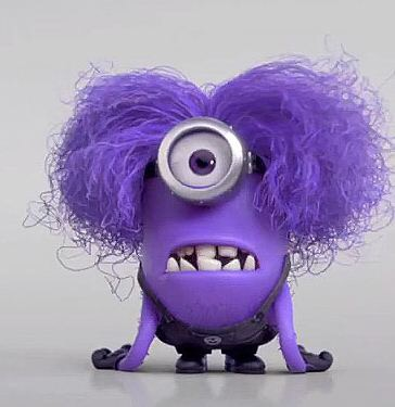 I didn't have Purple Minion-itis until time spent taking care of my mother.