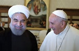 Wall Street Journal photo: Pope Francis and Iranian President Hassan Rouhani