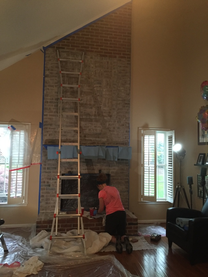See...I'm painting a fireplace!