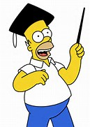 Scholarly Homer Simpson
