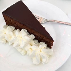 Sachertorte...a Viennese chocolate cake that is not sickeningly sweet.