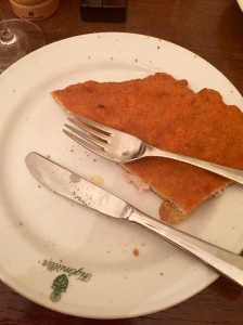 Schnitzel.  Divine...but I absolutely couldn't eat the whole thing!